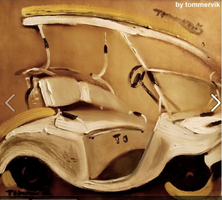 golf cart painting by TOMMERVIK