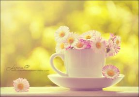 cup with flowers by Lenna3