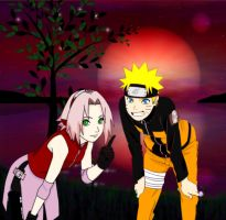 NaruSaku  magic love by Bleach-Fairy