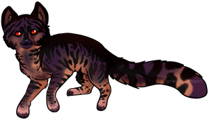 Sunset cat by Igneous-Dragon