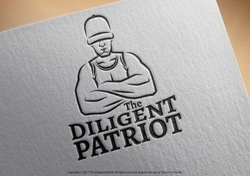 The Diligent Patriot Emblem Logo by TrexycaArtworks