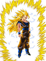 just Super Saiyan 3 Goku by ShinTheDragonFighter