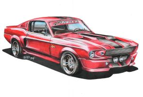 Ford Shelby GT 500 Eleanor RED by Haster-Trenctown