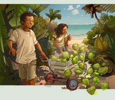 Coconuts 004 by CarlPearce