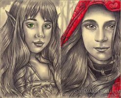 Sketchbook 12: Little Elf, Red Riding Hood by MJWilliam