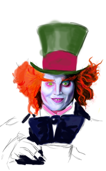 The Mad Hatter WIP 1 by CloudStrife1993