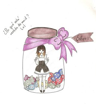 Candy in a bottle by SpookyAkadoll