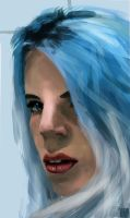 Blue Hair by Jakinabox