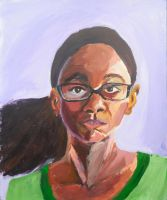 Snippet from the Portrait Series - Portrait 6 by ShanBrath