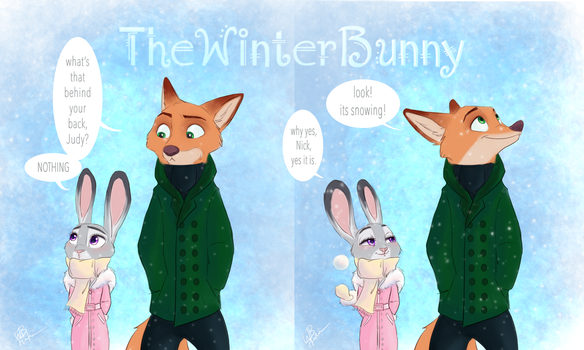 It's Snowing by TheWinterBunny