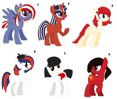 ~ Country Flags Themed Pony Adopts ~ CLOSED by IIbukiMioda