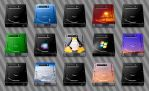 HDD icons for MacIntosh by JollyGreenJustin