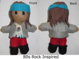 80s Rock Inspired Plushie by NeonCat22