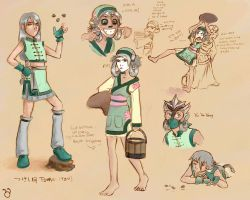 Tsukei Character Design by DoodleBuggy