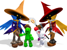 Black Mages and Friends by SierraMikainLatkje