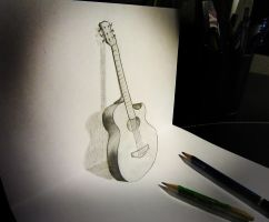 Guitar anamorphosis by AlessandroDD