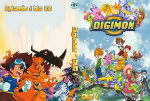 Digimon Adventure DVD cover by Oukami-SuGo