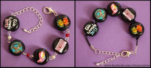Matching 'his and hers' musicals bracelets by citruscouture