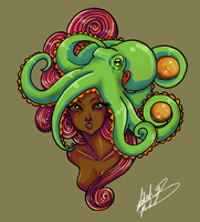 Octopus colored by LadiehBinkieh