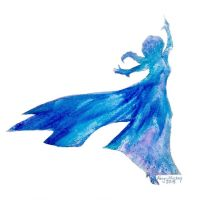 Melted Crayon Elsa by SwimmerGirl96