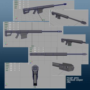 rough of M107 .50 cal. sniper by CharryCola