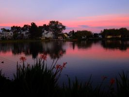 Sunset by the Dock II by transcendelia