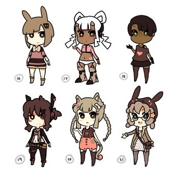 adopts. no 16-21 :FOR SALE: by xephia