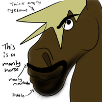 MANLY HORSE!! by Kutanra