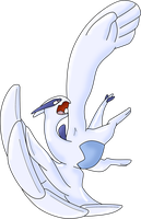 Lugia LINE ART COLORED by XeroPhantasy