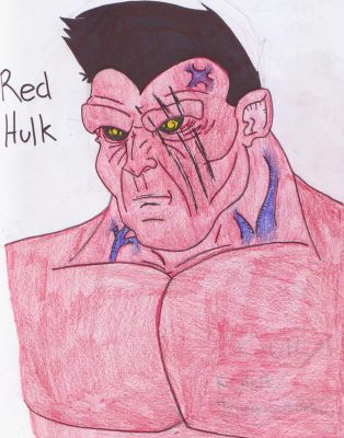 Yet Another Red Hulk by GeotrixQueen
