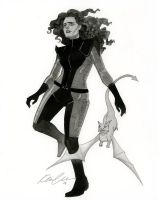 Kitty Pryde - HeroesCon 2014 sketch by kevinwada