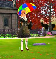 Rainbow umbrella by oMegara