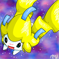 A Sparkley Jirachi by meomaow
