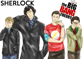 Sherlock x the Big Bang Theory by JeyHaily