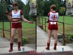 Rebecca Chambers Red Medic Costume Comparison by Rejiclad