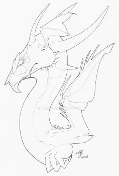 Fairy Dragon? LINEART by Talinra