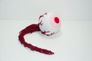 Zombie Eyeball by Heartstringcrochet