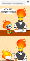 Ask Sansby and son #31- Grillby take a deep breath by TheNightmareGirls
