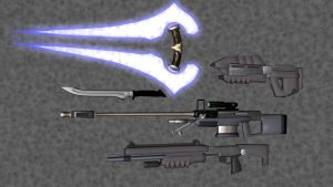 HALO Weapons by korblborp