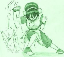 Toph Five years later by Demon-Keychain
