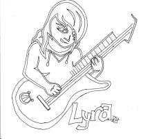 Anthro Lyra Playing Guitar by NotaDeviantBrony