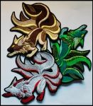 FOR SALE: Nine-tailed Kitsune patches by goiku