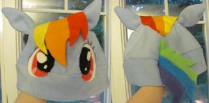 Rainbow Dash Hat (pattern test) (2012) by Like-a-Surr