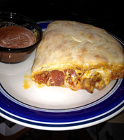 Homemade Pepperoni and Italian Sausage Calzone by Wigglesx
