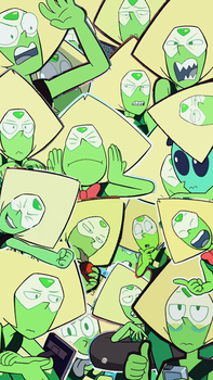Peridot tumblr collage wallpaper by LauriAtweh