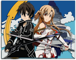 Sword Art Online Kirito and Asuna Mockup by The-Paper-Pony
