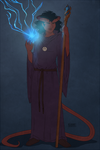 Commish - Tiefling OC by kamidoodles