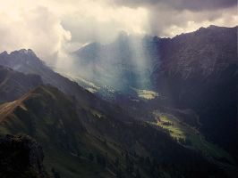 Sunbeam on the valley by edelweiss26