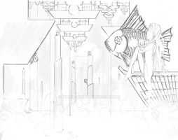 Emerald City Lineart by Nimue-Sin