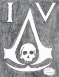 Assassin's Creed IV Symbol Shaded by jojomudkip